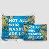Not All Who - World Map - Pouch Bag - airportag  - 4