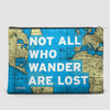 Not All Who - World Map - Pouch Bag - airportag  - 3