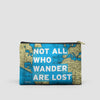 Not All Who - World Map - Pouch Bag - airportag  - 6