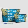 Not All Who - World Map - Pouch Bag - airportag  - 5
