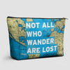 Not All Who - World Map - Pouch Bag - airportag  - 1