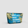 Not All Who - World Map - Pouch Bag - airportag  - 2