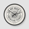 On My Way To - Wall Clock