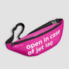 Open In Case Of Jet Lag - Fanny Pack airportag.myshopify.com