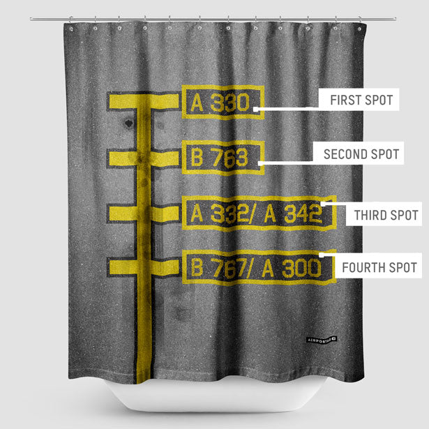 Shower Curtain inspired on travel themes - Airportag