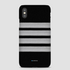 Black Pilot Stripes Silver - Phone Case - Airportag