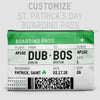 St. Patrick's Boarding Pass - Pouch Bag - airportag  - 2