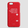 Switzerland - Passport Phone Case - airportag  - 1