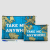 Take Me - World Map - Pouch Bag - airportag  - 6