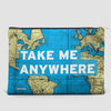 Take Me - World Map - Pouch Bag - airportag  - 4