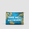Take Me - World Map - Pouch Bag - airportag  - 5