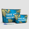 Take Me - World Map - Pouch Bag - airportag  - 3