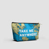 Take Me - World Map - Pouch Bag - airportag  - 2