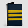 Navy Pilot Stripes - Passport Cover airportag.myshopify.com