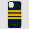 Navy Pilot Stripes Gold - iPhone Case airportag.myshopify.com