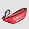 Tickets & Receipts - Fanny Pack airportag.myshopify.com