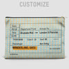 Train Ticket - Europe - Pouch Bag - airportag  - 2