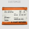 Train Ticket - UK - Pouch Bag - airportag  - 2