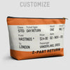 Train Ticket - UK - Pouch Bag - airportag  - 1