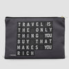 Travel is - Flight Board - Pouch Bag - airportag  - 4