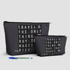 Travel is - Flight Board - Pouch Bag - airportag  - 3