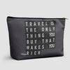 Travel is - Flight Board - Pouch Bag - airportag  - 1