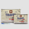 Travel is - Old Tag - Pouch Bag - airportag  - 6