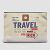 Travel is - Old Tag - Pouch Bag - airportag  - 4
