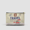 Travel is - Old Tag - Pouch Bag - airportag  - 5