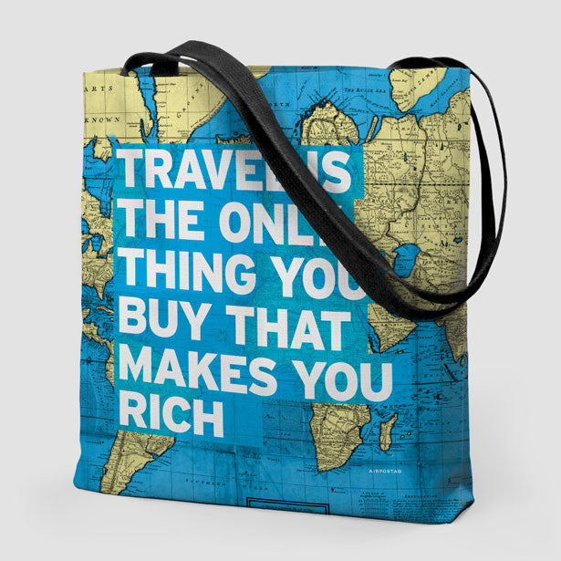 Tote Bag Travel Quote and World Map – Airportag aebcd6770d35f