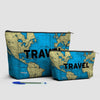 Travel - World Map - Pouch Bag - airportag  - 3