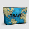 Travel - World Map - Pouch Bag - airportag  - 1