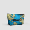 Travel - World Map - Pouch Bag - airportag  - 2