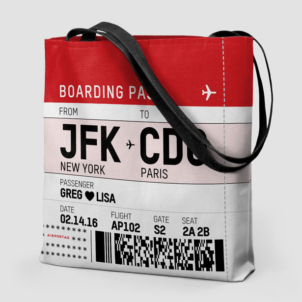 Custom Valentine s Boarding Pass - Tote Bag – Airportag 0a0a19a92961f
