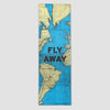 Fly Away - World Map - Runner Rug