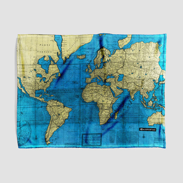 Throw Blanket   World Map