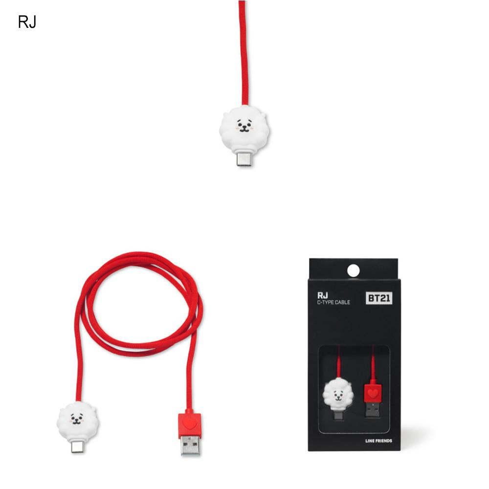 BT21 USB Type C Charging Cable Câble de chargeur BT21 RJ