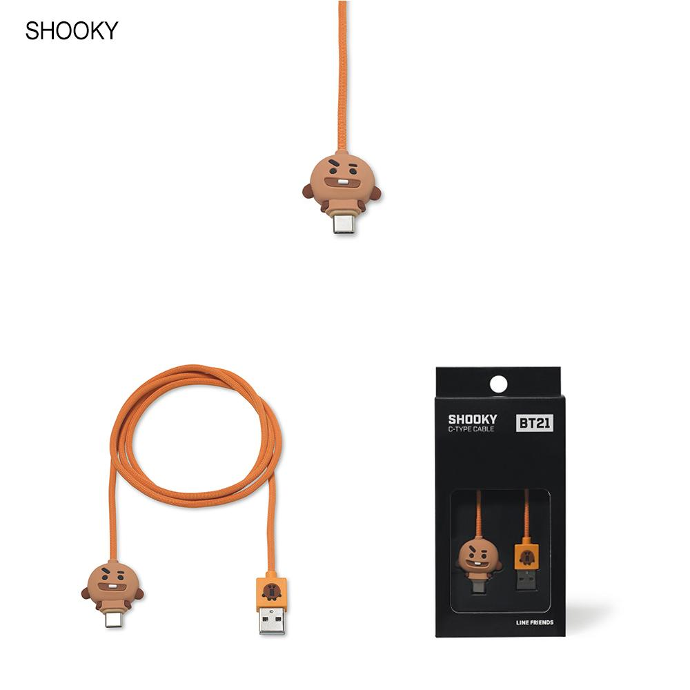 BT21 USB Type C Charging Cable Câble de chargeur BT21 SHOOKY