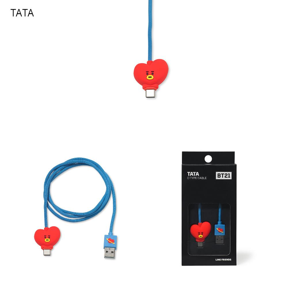 BT21 USB Type C Charging Cable Câble de chargeur BT21 TATA