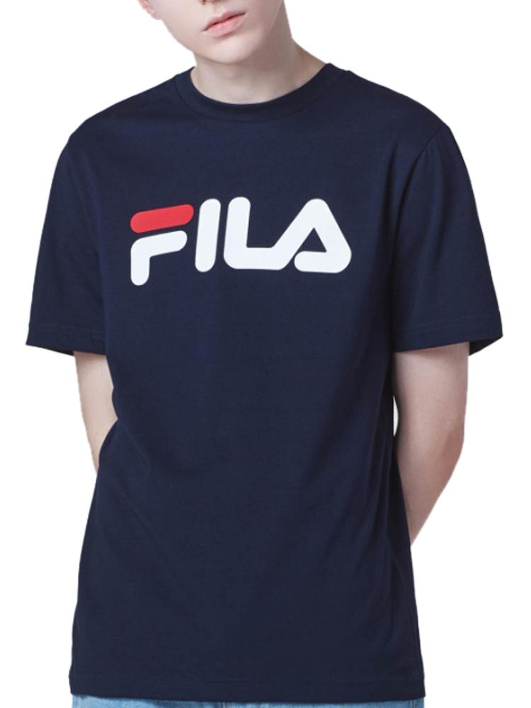 FILA T-shirt Manches Courtes Navy, Rose Manches courtes FILA Navy XS