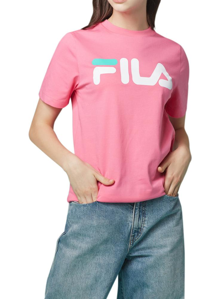 FILA T-shirt Manches Courtes Navy, Rose Manches courtes FILA Rose XS