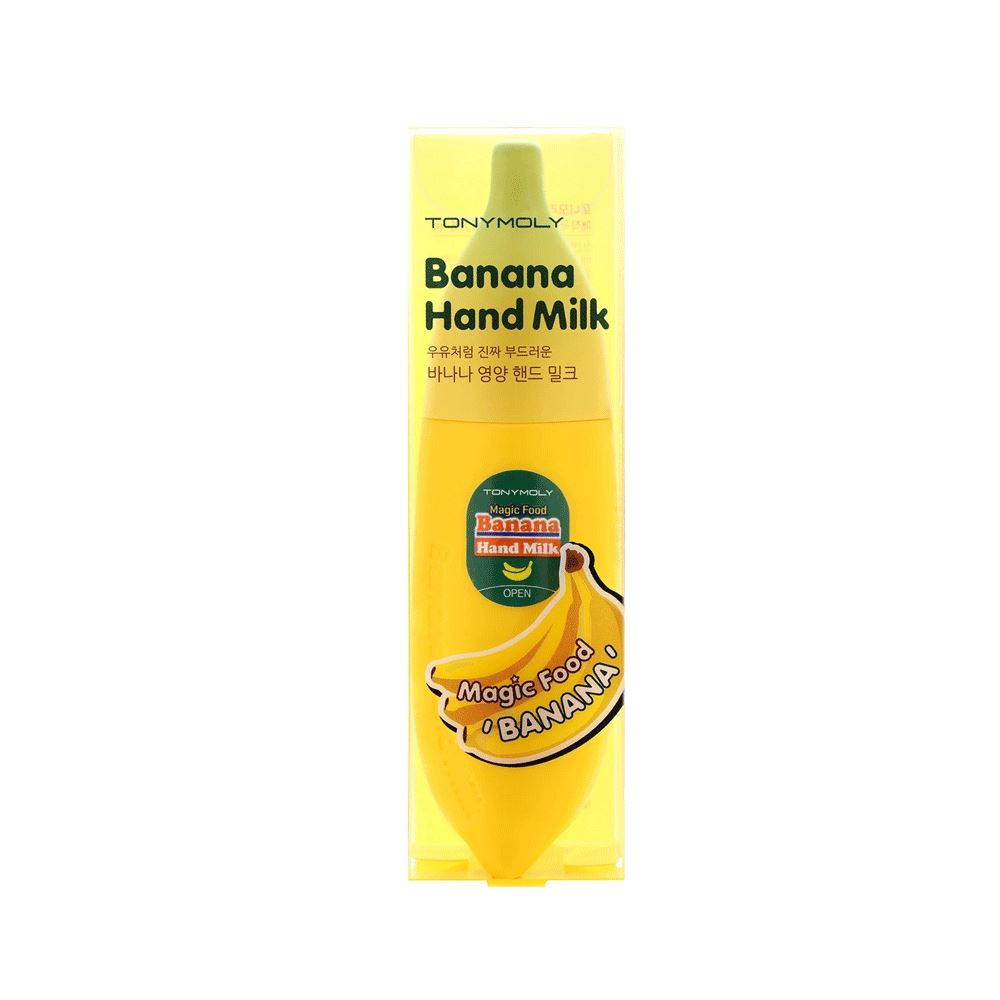 Magic Food Banana Hand Milk 45ml Crème Mains Hydratante TONYMOLY best korean skin care