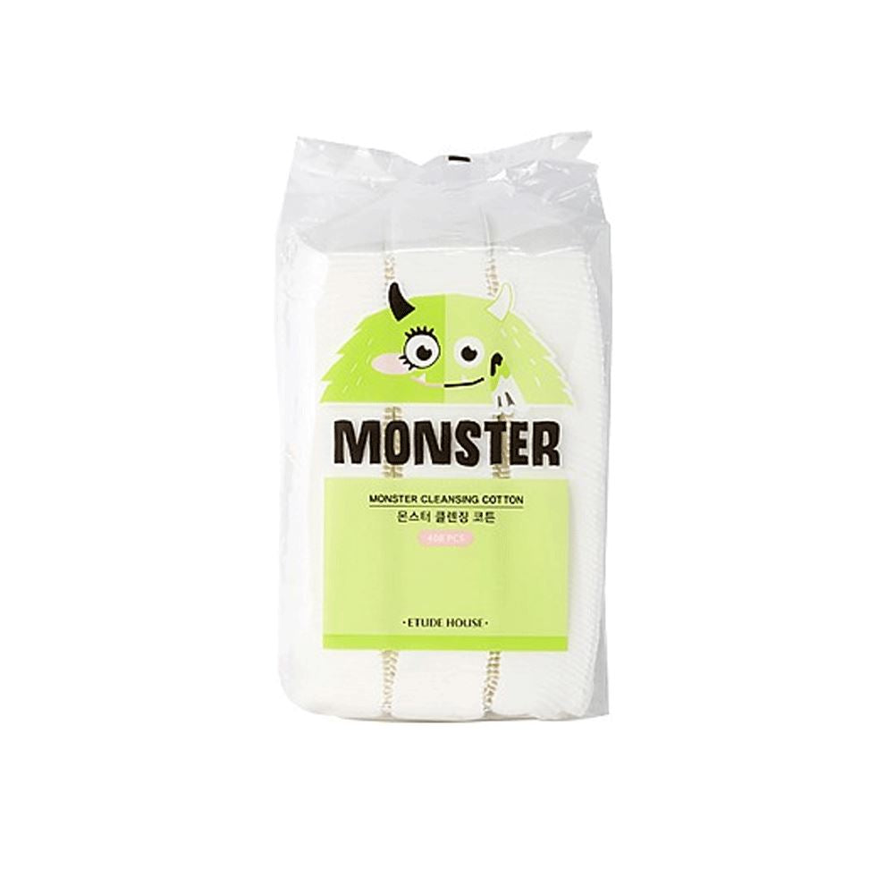 Monster Cleansing Coton (408pcs) <br> Coton Démaquillant Coton Démaquillant ETUDE HOUSE