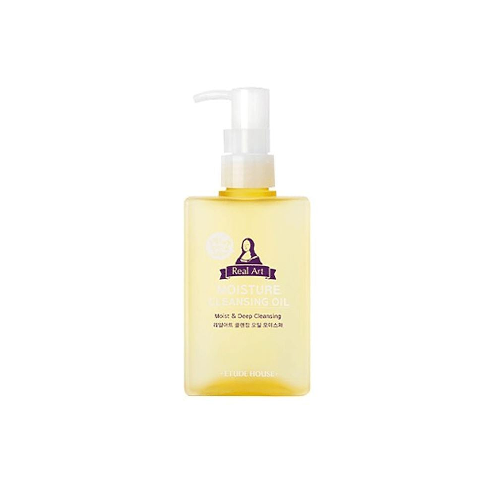 Real art cleansing oil moisture 185ml <br> Huile Nettoyante/ Démaquillante Demaquillant ETUDE HOUSE