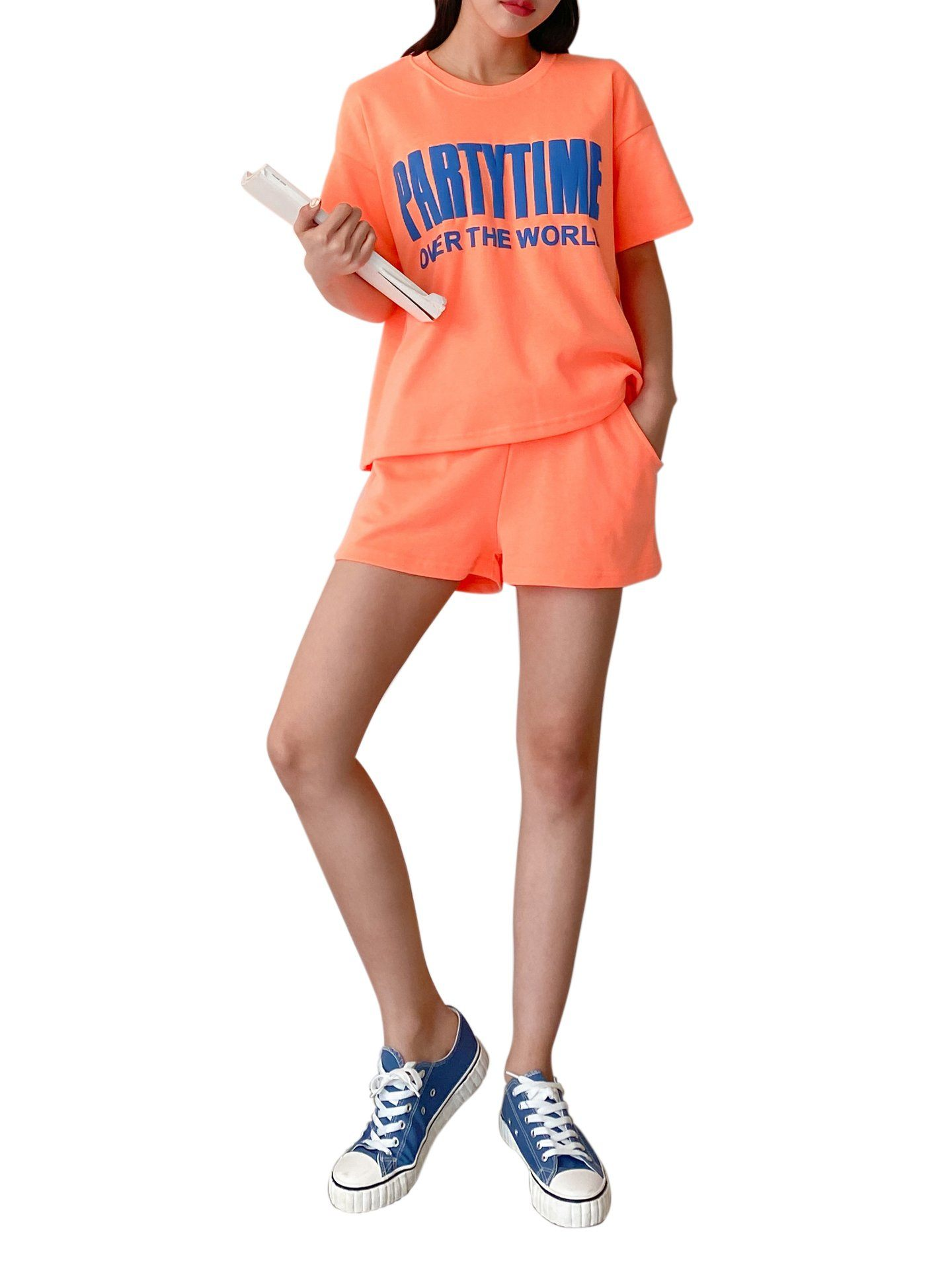 Shorts d'Ensemble Jogger avec Logo Party Time T-shirt & Shorts BELLE D'ORIENT