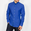 Slim Fit Oxford Long Sleeve Shirt - ALAND B - Cobalt