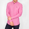 Slim Fit Oxford Long Sleeve Shirt - ALAND B - Hot Pink