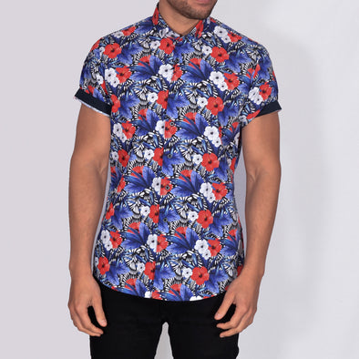 Slim Fit Floral Short Sleeve Shirt - BEEN - Multi