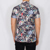 Slim Fit Statement Short Sleeve Shirt - CAVIL - Navy