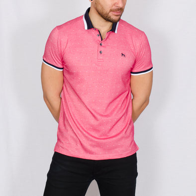 Jacquard Polo Shirt - DONNA - Hot Pink